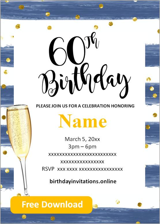 mens 60th birthday invitations