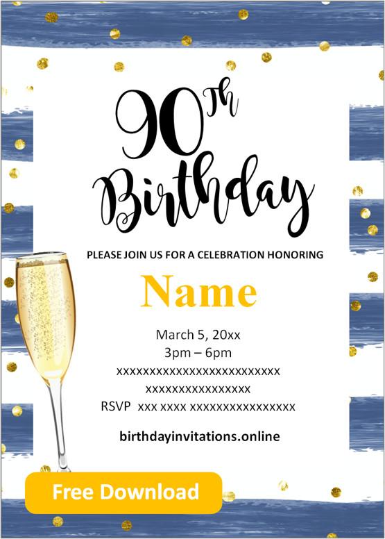 surprise 90th birthday invitations