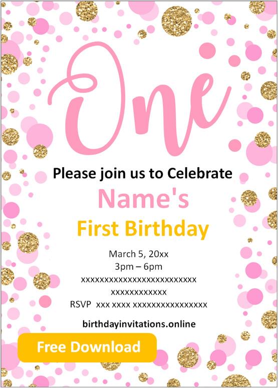 free printable first birthday