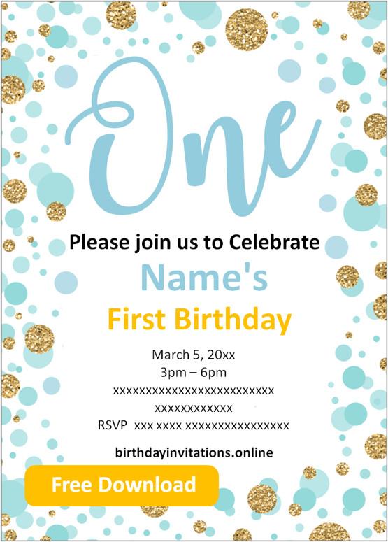 first birthday invitations boy