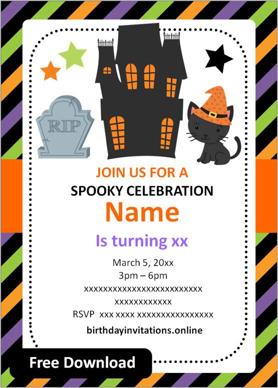 halloween birthday party invitations templates